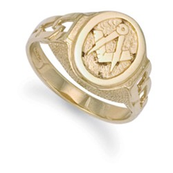 Masonic 9ct Yellow Gold  Ring -  MGR-01