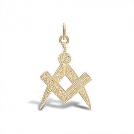 Masonic 9ct Pendant  [Small]