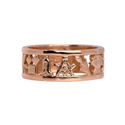 Masonic wedding band - 9 ct Yellow Gold