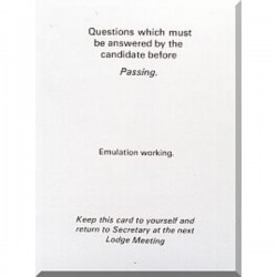 Emulation Passing Question Card