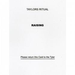 Taylor's Raising Question Card