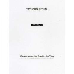 Taylor's Raising Question Card