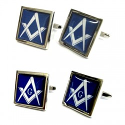 Masonic Blue Cufflinks (With or Without G)
