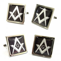 Masonic Black Cufflinks (With or Without G)