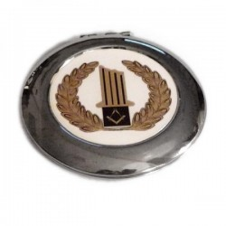 Masonic Broken Column Handbag Mirror