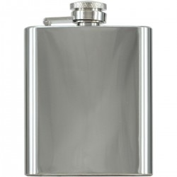 3oz Polished Stainless Steel Hip Flask Boxed (1)