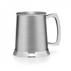 Brushed Finish 1 Pint Stainless Steel Tankard