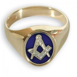 Masonic 9ct Yellow Gold Reversible Rings Square & Compass