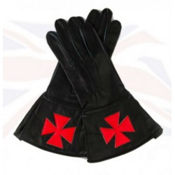 Knight Templar Leather Gauntlets