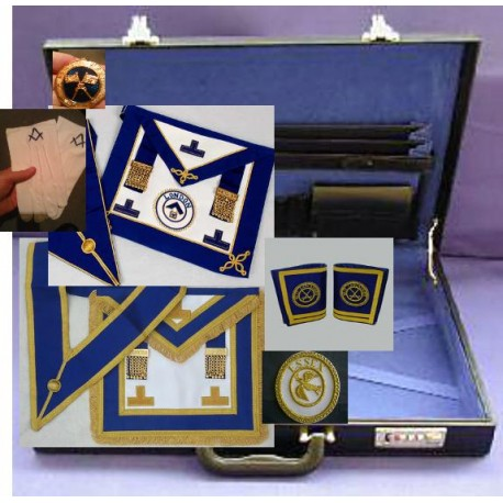 Provincial Fulldress & Undress Apron & Collars, 2 Badges, Jewel, Gloves, Hard Case, Gauntlets
