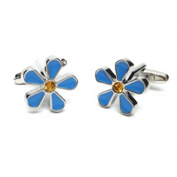 Masonic Freemasons Forget Me Not Cufflinks
