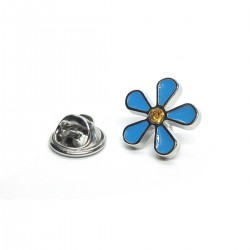 Forget me Not Design Pin Badge