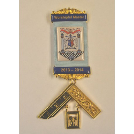 Past Masters Jewel [ Lodge name and number engraved plate ]